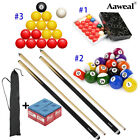 Complete Snooker Pool Billiards Cues Sticks Set Pool Balls Kit +Chalks