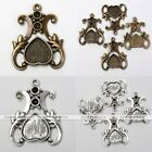 10pieces Tibetan Silver Crown Love Heart Photo Picture Frame Finding Charms US
