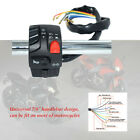 DC12V ABS Motorcycle 22mm Handle Bar Ignition Engine Stop Horn Light Switch