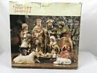 Kirklands Potters Garden II Nativity Set 11 Piece With One Piece Missing