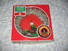 Vintage Christmas 18 Light Wreath Plastic Holly Candle Electric Decor Tree Top