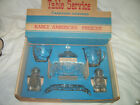 STAR OF DAVID -7 PC.TABLE SERVICE by ANCHOR HOCKING -NEVER USED-ORIGINAL BOX