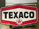 "Original TEXACO Service Station Porcelain Sign  7ft 2""x53"" 1/2 Huge Double Sided"