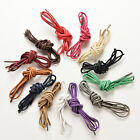 Round Waxed Shoelaces Oxford Dress Canvas Sneaker Shoe Laces Unisex Strings GX