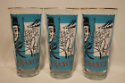 3 VINTAGE MID CENTURY LIBBEY'S CITIES OF FRANCE TALL TUMBLER DRINKING GLASSES
