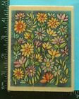 BLUE GARDEN BACKGROUND Flowers Rubber Stamp by Uptown