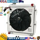 3 Row Radiator +Shroud FAN For Toyota Pickup Truck 30L V6 1988 1995 1989 1990