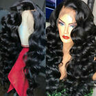 26inch Black Loose Body Wave Brazilian Human Hair Wig Lace Front Wigs NP2