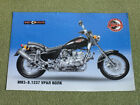 URAL VOLK (WOLF) IMZ-8.1237 Chopper Road Russian Motorcycle Brochure +AUTOGRAPH+