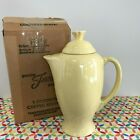 Fiestaware Yellow Coffee Server Fiesta Retired Pale Yellow Serving Carafe