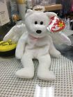 Ty Beanie Baby HALO The Angel Bear Retired - MWMT - Brown Nose