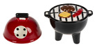 GANZ Salt  Pepper Shakers Stacking Grill NEW in BoxER59798