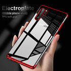 For Samsung Galaxy Note 10 Plus Shockproof Plating Rubber Clear Slim Case Cover