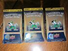 2013 Upper Deck University of Notre Dame Factory Sealed Box Lot of 3 Nice!