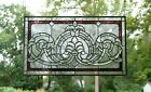 Handcrafted stained glass Clear Beveled window panel 3475W x 205H