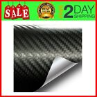 3D Black Carbon Fibre Vinyl Wrap Twill Weave Adhesive Film 6 Inches x 60 Inches