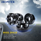 6x55 Black Hub Centric 2 Thick Wheel Spacers Adpters 781 Hub Bore for Chevy