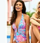 Lilly Pulitzer Lanai Halter One Piece Light Pascha Pink Aquadesiac Size 4 NEW
