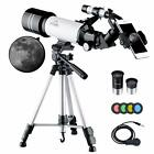 MAXLAPTER Telescope for Kids Adults Astronomy Beginners 70mm Aperture Refract
