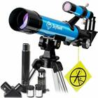 Portable Telescope for Kids 40mm Aperture 400mm AZ Mount Astronomical Refract