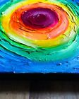 Abstract Acrylic Tactile Rainbow Art Painting on Canvas 12x12 Pride