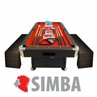 8FT Vintage Red Pool Table Billiard Indoor games with container Benches