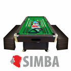 8FT Vintage Green Billiard Pool Table Indoor games with container Benches