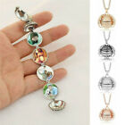 Expanding 4 Photo Locket Necklace Magic Ball Angel Wing Pendant Memorial Gift