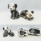 Sugar Skull Day of the Dead Cat Dog Skeleton Halloween Salt Pepper Shakers Black