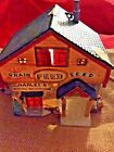 "Lemax Christmas Village ""Harley's General Merchandise""Grain Feed Seed Horse Bay!"