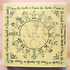 PEACE ON EARTH NEW RUBBER STAMP SCHOOL WHIPPER SNAPPER CHRISTMAS TEACHER WOOD
