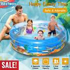48 90 Foldable Inflatable Swimming Pool Blow Up Family Pool for Kids Backyard