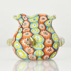 Antique Satinated Millefiori Art Glass Miniature Vase by Fratelli Toso Murano