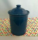 Fiestaware Lapis Small Canister with Lid Fiesta Blue 1 Quart Kitchen Crock