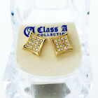 Gold Bling Iced Out Ohrstecker - PAVE KITE 10mm