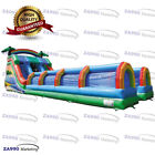 49x20ft Commercial Inflatable Water Slides Tropical Bounce With 3 Air Blowers
