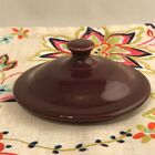 Fiestaware Claret Jam Jar Lid Fiesta Retired Grease Utility Replacement LID ONLY