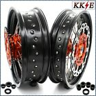 KKE 3.5/4.5*17 SUPERMOTO CUSH WHEEL SET FIT KTM690 ENDURO R 300MM FRONT DISC