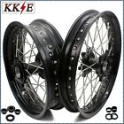 KKE 19/17 INCH FIT KTM950 KTM990 2003-2017 SUPERMOTO CUSH WHEELS RIMS SET BLACK