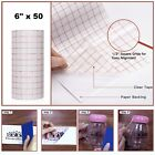 Vinyl Transfer Paper Tape Roll Cricut Adhesive 6 x 50 FT Clear Alignment Grid