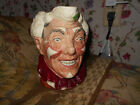 Royal Doulton The Clown Character Toby Jug D6322 with White Hair~Harry Fenton~