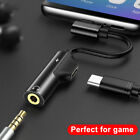 USB Type C to 35mm Audio Headphone Jack Charging Adapter For Huawei P30 P20 Pro
