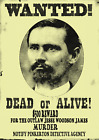 OLD WEST WANTED POSTER JESSE JAMES OUTLAW WESTERN BANK TRAIN REWARD