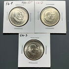 1954 PDS SET 50C Washington Carver Silver Commemorative 3 COINS 51261