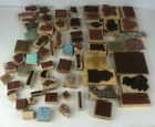 Wooden Rubber Stamps lot of 55+