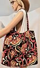 Vera Bradley Extra Large Shoulder Bag Morgan Puccini Retired Excellent