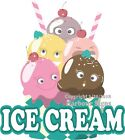 Ice Cream Decal Choose Your Size Concession Food Truck Sign Sticker