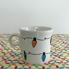 Fiestaware String of Lights Mug Fiesta White Ring Handled Tom and Jerry Holiday