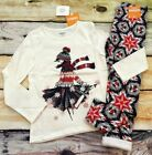 Gymboree 5 6 North Pole Party Girl in Scarf Top Star Snowflake Leggings NWT