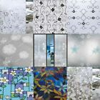 Static Cling wrounght iron flowers Glass Window Film Sticker Privacy Home Decor